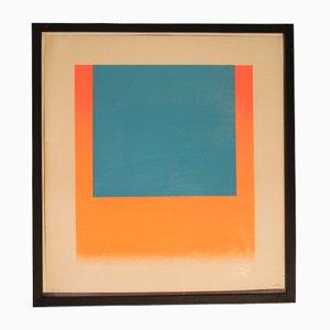 Sérigraphie Bleue et Rouge Orange par Geiger Rupprecht, années 60