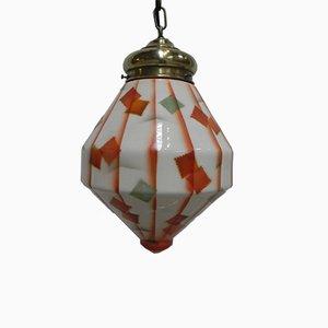 Lámpara de techo Art Déco de vidrio, años 30