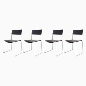 Leather Dining Chairs by Giandomenico Belotti for Alias, 1980s, Set of 4