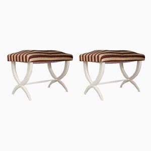 Poggiapiedi vintage in legno massiccio di Gio Ponti & Tomaso Buzzi, set di 2