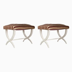 Vintage Hardwood Footstools by Gio Ponti & Tomaso Buzzi, Set of 2