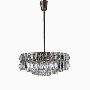 Lámpara colgante de cristal de Bakalowits & Söhne, años 60