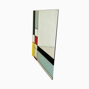Vintage Square Wall Mirror from Mondrian Design, 1980s