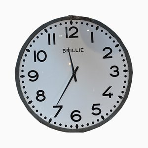 Large Vintage Wall Clock from Brillié, 1960s