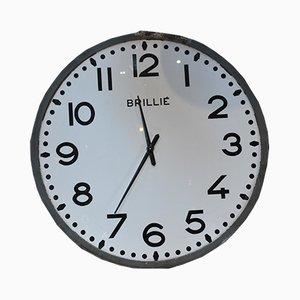 Reloj de pared vintage grande de Brillié, años 60