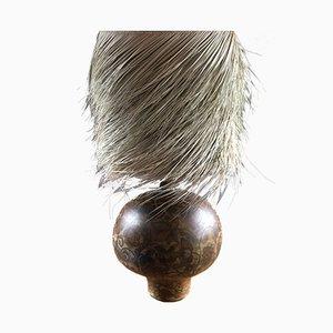 Palm Fiber Table Lamp by Madeleine Valence for La Grange aux Potiers, 1960s