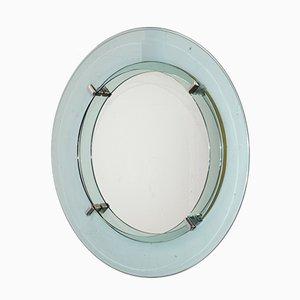 Espejo italiano de Cristal Art, años 60