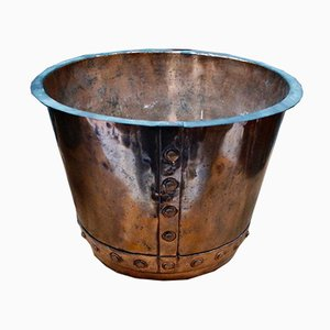 Antique Victorian Copper Cauldron