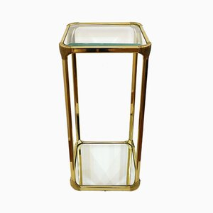 Vintage Gilt Metal and Glass Side Table, 1970s
