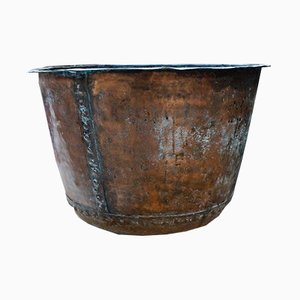 Large Antique Victorian Copper Cauldron