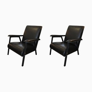 French Lounge Chairs by Jacques Quinet, 1950s, Set of 2