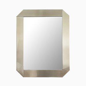 Modell Specchio Spiegel mit Rahmen aus Edelstahl von Gaetano Scolari für Valenti Luce, 1970er