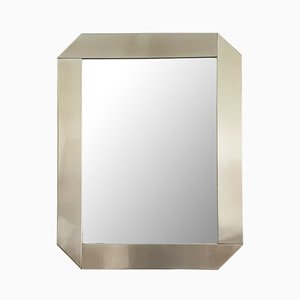 Stainless Steel Model Specchio Mirror by Gaetano Scolari for Valenti Luce, 1970s