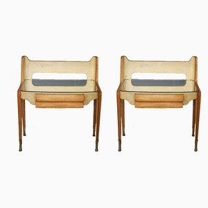 Tables de Chevet Mid-Century, années 40, Set de 2