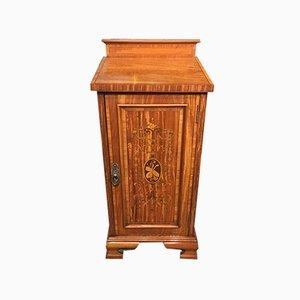 Antique Edwardian Satinwood Cabinet