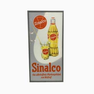 Cartel publicitario Sinalco vintage de limonada, años 50