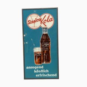 Insegna pubblicitaria Sinalco Kola vintage, anni '50