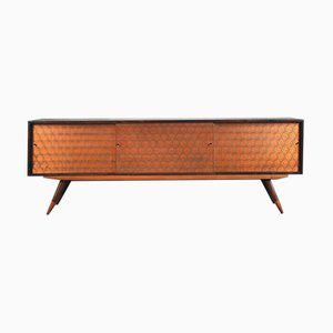 Mid-Century Italian Copper and Walnut Sideboard, 1960s