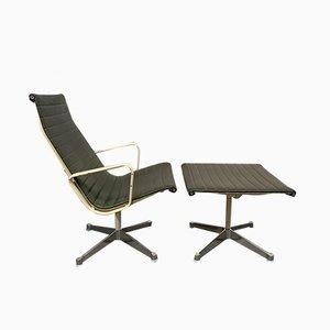 Drehstuhl & Fußhocker von Charles & Ray Eames für Herman Miller, 1970er