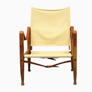 Vintage Safari Poltrona Lounge Chair by Kaare Klint
