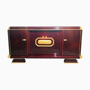 Art Deco Walnut and Gold Leaf Sideboard, 1920s