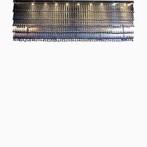 Lámpara de techo vintage grande de cristal de Murano