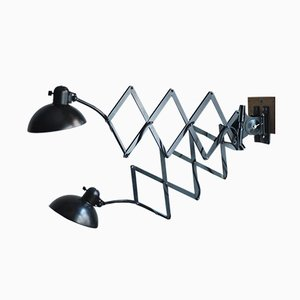Black Scissor Wall Lamps by Christian Dell for Kaiser Idell/Kaiser Leuchten, 1930s, Set of 2