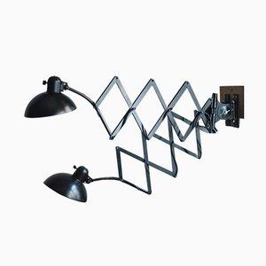 Lámparas de acordeón negras de Christian Dell para Kaiser Idell / Kaiser Leuchten, años 30. Juego de 2