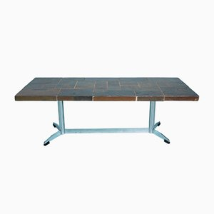 Vintage Brutalist Slate Coffee Table, 1960s