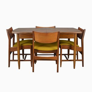 Mid-Century Dining Table & Chairs Set from William Lawrence of Nottingham, 1960s