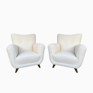 Italian Lounge Chairs by Guglielmo Ulrich, 1950s, Set of 2