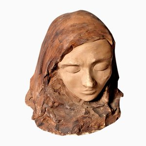 Frauenkopf Skulptur von Tono Zancanaro für Tono Zancanaro, 1950er