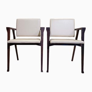 Model Luisa Rosewood Lounge Chairs by Franco Albini for Poggi, 1950s, Set of 2