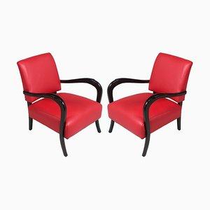 Art Deco Ebonized Walnut Lounge Chair, 1930s