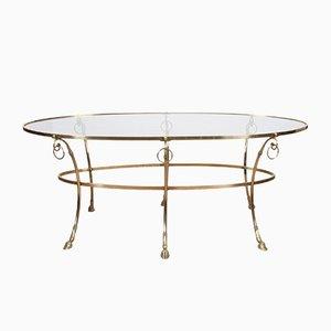 Table Basse en Laiton et en Verre, France, années 60