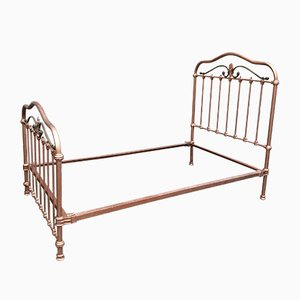 Vintage French Iron Bed, 1920s