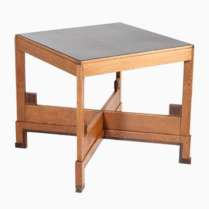 Table Basse Art Déco en Chêne, Pays-Bas, années 20