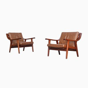 Mid-Century Danish Model GE-530 Lounge Chairs by Hans J. Wegner for Getama, Set of 2