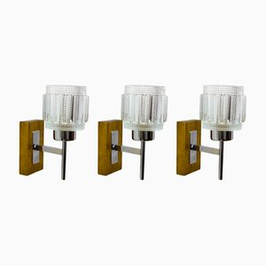 Mid-Century Sconces, 1950s, Set of 3