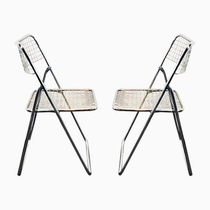 Chrome Folding Chairs by Niels Gammelgaard for IKEA, 1970s, Set of 2