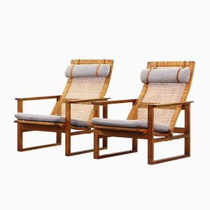 Mid-Century Lounge Chairs by Børge Mogensen for Federica, Set of 2