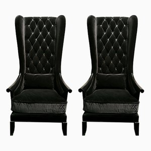 Wingback Armchairs from Christopher Guy, 2000s, Set of 2