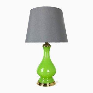 Mid-Century Tischlampe aus grünem Opalglas von Cenedese Vetri