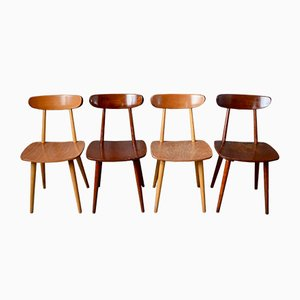 Scandinavian Dining Chairs from Hiller, 1950s, Set of 4