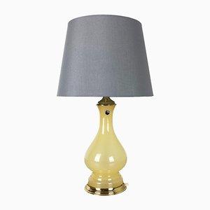 Grande Lampe de Bureau Mid-Century en Verre Opalin de Cenedese Vetri