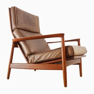 Mid-Century Lounge Chair by Folke Ohlsson for Dux