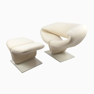 Ribbon Armchair and Ottoman by Pierre Paulin for Artifort, 1960s, Set of 2