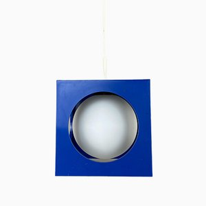 Vintage Plastic and Glass Cube Ceiling Lamp from Richard Essig