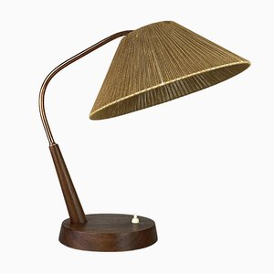 Mid-Century Space Age Teak Table Lamp from Temde