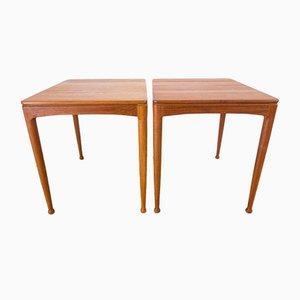 Teak Side Tables by Sven Engström & Gunnar Myrstrand for Tingströms, 1960s, Set of 2